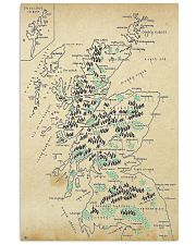 Scotland Whole Aged Map 11x17 Poster front