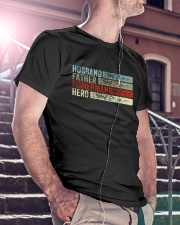 Husband Father Fisherman Hero Classic T-Shirt lifestyle-mens-crewneck-front-5