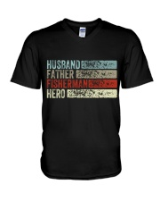 Husband Father Fisherman Hero V-Neck T-Shirt thumbnail
