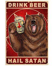 Bear Beer Drink Beer Hail Satan 11x17 Poster front
