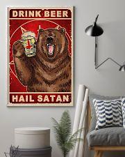 Bear Beer Drink Beer Hail Satan 11x17 Poster lifestyle-poster-1