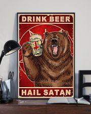 Bear Beer Drink Beer Hail Satan 11x17 Poster lifestyle-poster-2