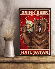 Bear Beer Drink Beer Hail Satan 11x17 Poster lifestyle-poster-3