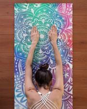 Yoga Mandala Yoga Mat 24x70 (vertical) aos-yoga-mat-lifestyle-23