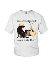 Easily Distracted By Dogs And Guitar Youth T-Shirt thumbnail
