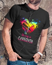 I Love Being A Caregiver Classic T-Shirt lifestyle-mens-crewneck-front-4