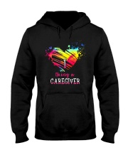 I Love Being A Caregiver Hooded Sweatshirt thumbnail