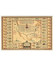 A Beautiful 1930s Sportsman's Map of American 17x11 Poster front