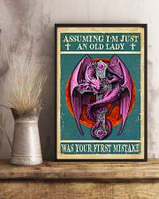 Old Lady Love Pink Dragon 11x17 Poster lifestyle-poster-3