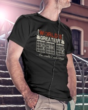 World's Greatest Guitar Dad Classic T-Shirt lifestyle-mens-crewneck-front-5