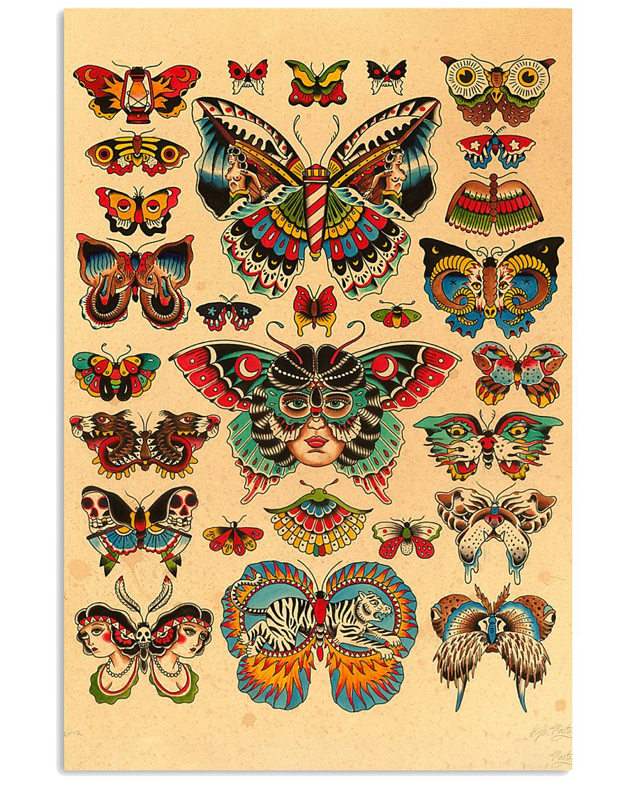 Scientific Illustration Butterfly 11x17 Poster