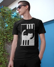 White and Black Cat Classic T-Shirt apparel-classic-tshirt-lifestyle-17