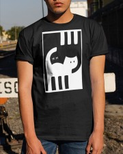 White and Black Cat Classic T-Shirt apparel-classic-tshirt-lifestyle-29