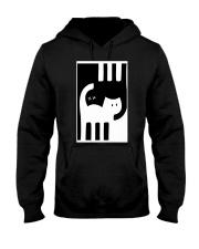 White and Black Cat Hooded Sweatshirt thumbnail