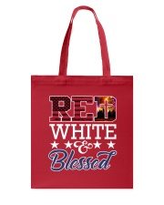 Red White Blessed Tote Bag thumbnail