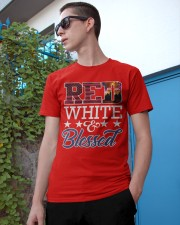 Red White Blessed Classic T-Shirt apparel-classic-tshirt-lifestyle-17