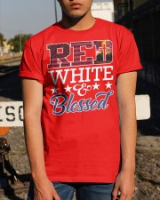 Red White Blessed Classic T-Shirt apparel-classic-tshirt-lifestyle-29