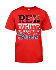 Red White Blessed Classic T-Shirt front