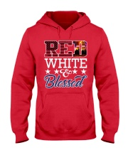 Red White Blessed Hooded Sweatshirt thumbnail