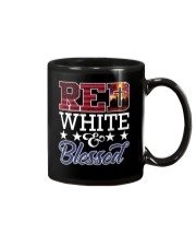 Red White Blessed Mug thumbnail