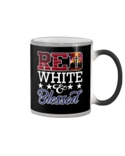Red White Blessed Color Changing Mug thumbnail