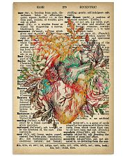 Vintage Dictionary Anatomical Heart And Flowers 2 11x17 Poster front