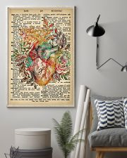 Vintage Dictionary Anatomical Heart And Flowers 2 11x17 Poster lifestyle-poster-1