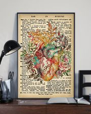Vintage Dictionary Anatomical Heart And Flowers 2 11x17 Poster lifestyle-poster-2