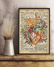 Vintage Dictionary Anatomical Heart And Flowers 2 11x17 Poster lifestyle-poster-3