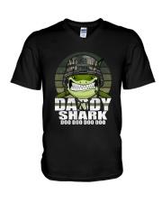 Army Daddy Shark V-Neck T-Shirt thumbnail