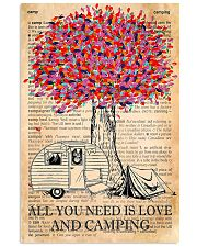 All You Need Is Love And Camping 11x17 Poster front