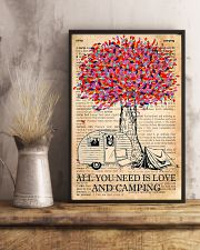 All You Need Is Love And Camping 11x17 Poster lifestyle-poster-3