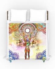Beautiful Yoga Art Duvet Cover - Queen aos-duvet-covers-88x88-lifestyle-front-01