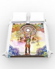 Beautiful Yoga Art Duvet Cover - Queen aos-duvet-covers-88x88-lifestyle-front-02