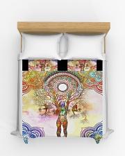 Beautiful Yoga Art Duvet Cover - Queen aos-duvet-covers-88x88-lifestyle-front-03