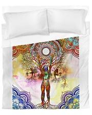Beautiful Yoga Art Duvet Cover - Queen front