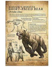 Prehistoric Animals - Bear 11x17 Poster front