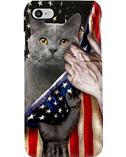Love British Shorthair Cat United State Flag Phone Case i-phone-8-case
