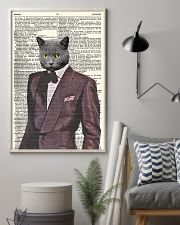 Funny Cat Vintage Dictionary Pages 11x17 Poster lifestyle-poster-1