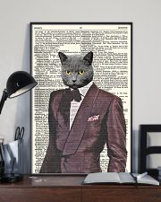 Funny Cat Vintage Dictionary Pages 11x17 Poster lifestyle-poster-2