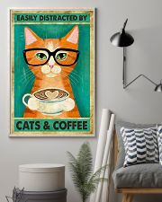 Easily Distracted By Cats And Coffee 11x17 Poster lifestyle-poster-1