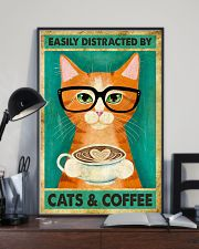 Easily Distracted By Cats And Coffee 11x17 Poster lifestyle-poster-2