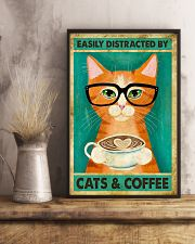 Easily Distracted By Cats And Coffee 11x17 Poster lifestyle-poster-3