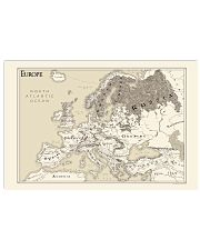 Euro Map In Lord Of The Rings Style 17x11 Poster front