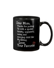 Dear Mom Poster Mug tile