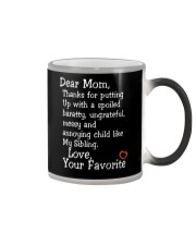 Dear Mom Poster Color Changing Mug thumbnail