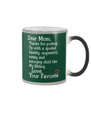 Dear Mom Poster Color Changing Mug color-changing-right