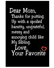 Dear Mom Poster Vertical Poster tile