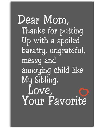 Dear Mom Poster