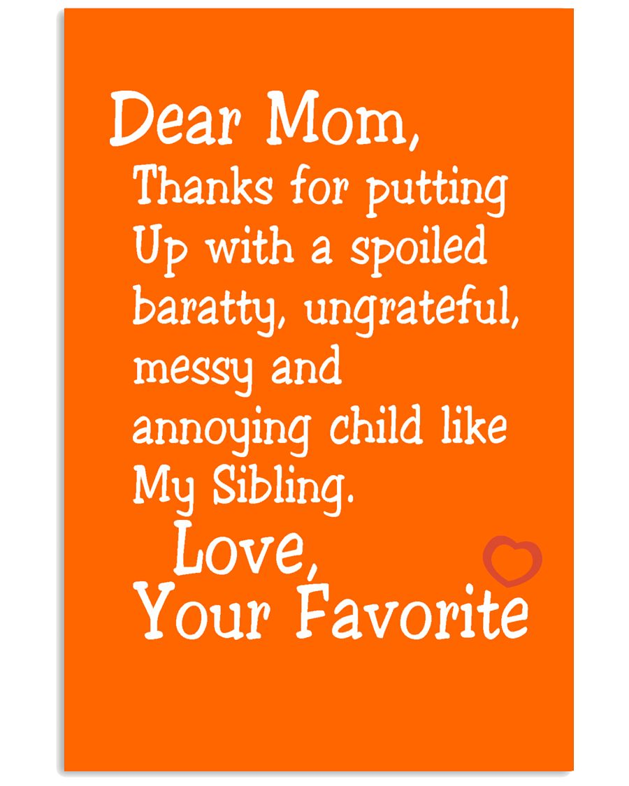Dear Mom Poster 11x17 Poster